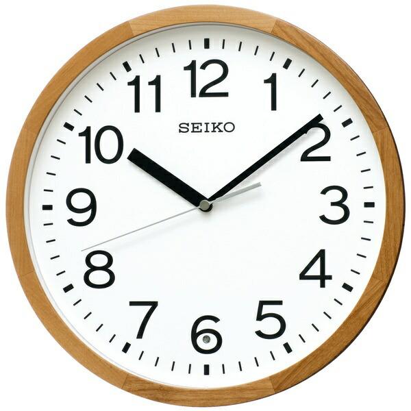 セイコーSEIKO掛け時計【スタンダード】天然色木地KX249B[電波自動受信機能有][KX249B]