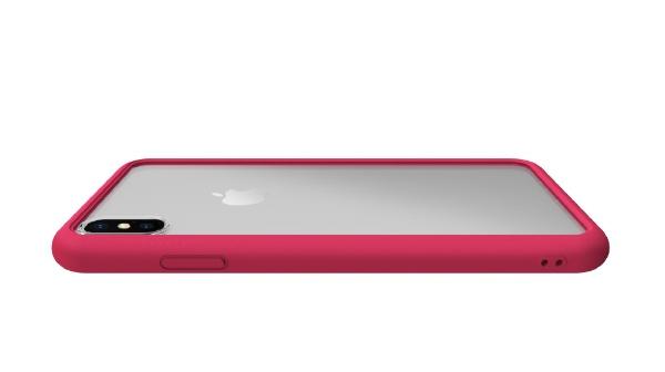 ABSOLUTETECHNOLOGYアブソルートLINKASEAIRwithGorillaGlassforiPhoneXSMax(側面TPU:ピンク)ATAIRIPXSM/PK