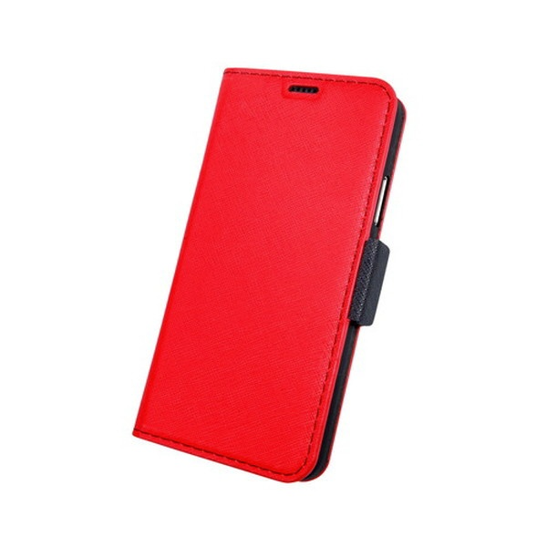 CORALLOコラーロiPhoneXS対応NU手帳型合皮ケースCRI9SCSPLNURDRedBlack