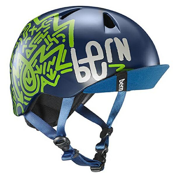 BERNバーン子供用ヘルメットbern/NINO(XS-S:48.0〜51.5cm/MatteNavyZig-Zag)推奨年齢2-6歳