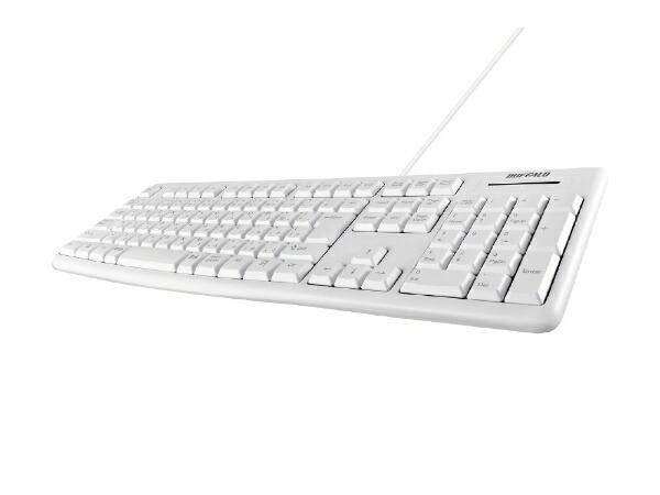 BUFFALOバッファローBSKBU100WHキーボードホワイト[USB/有線][BSKBU100WH]