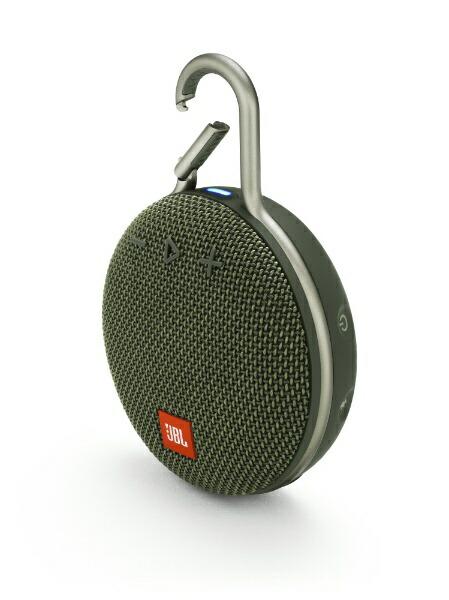 JBLジェイビーエル【ビックカメラグループオリジナル】ブルートゥーススピーカーJBLCLIP3GRNグリーン[Bluetooth対応/防水][JBLCLIP3GRN]【point_rb】