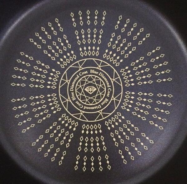 パール金属PEARLMETALIHガラス蓋付すきやき鍋NEW贅の極みブルーダイヤモンドコートHB-3256[20cm/IH対応][HB3256]