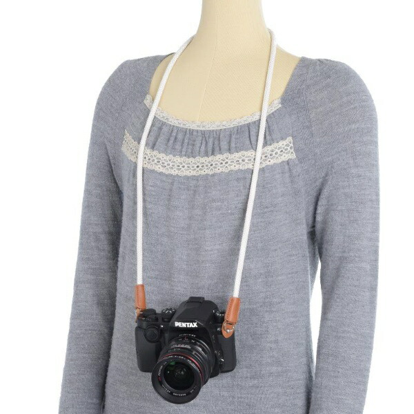 アルヌボARNUVOAR0320カメラストラップシルキーロープアイボリー