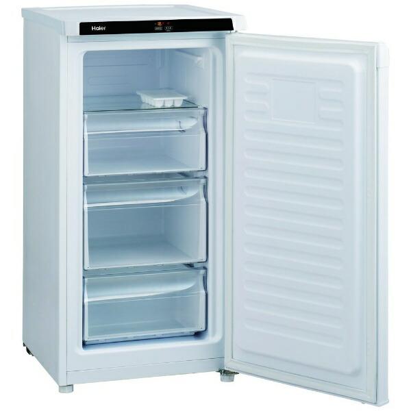 ハイアールHaier《基本設置料金セット》JF-NU102B-W冷凍庫LiveSeriesホワイト[1ドア/右開きタイプ/102L][冷蔵庫小型スリムJFNU102B]