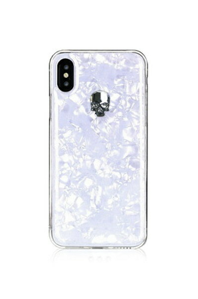 BlingMyThingブリングマイシングiPhoneXS対応TreasureWhiteBMI9SCSDLTWSSSILVERSKULL