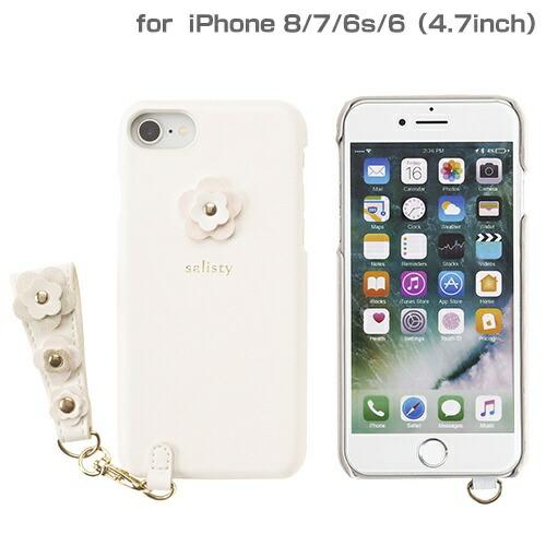 HAMEEハミィiPhoneSE(第2世代)4.7インチ/iPhone8/7/6s/6専用salisty(サリスティ)Pフラワースタッズハードケース(オフホワイト)P-HC002C276-895634