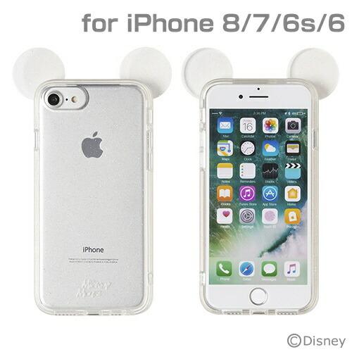 HAMEEハミィiPhoneSE(第2世代)4.7インチ/iPhone8/7/6s/6専用ディズニーキャラクターキラキラTPUケース(ミッキーマウス/クリア)276-899007