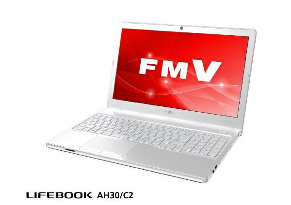 富士通FUJITSUFMVA30C2Wノートパソコンアーバンホワイト[15.6型/HDD:500GB/メモリ:4GB/2018年11月モデル]