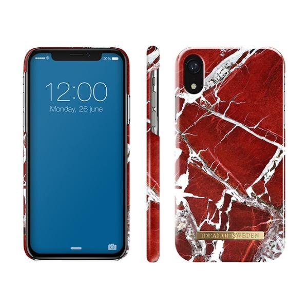 IDEALOFSWEDENiPhoneXR用ケーススカーレットレッドマーブルIDFCS18-I1861-71