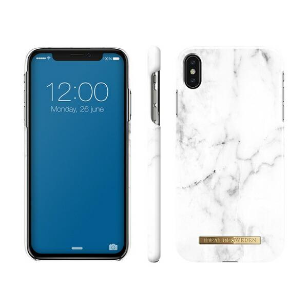 IDEALOFSWEDENiPhoneXSMAX用ケースホワイトマーブルIDFC-I1865-22