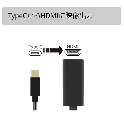 AREAエアリア[USB-C→HDMI]変換アダプタMS-DPAH1ブラック【rb_cable_cpn】