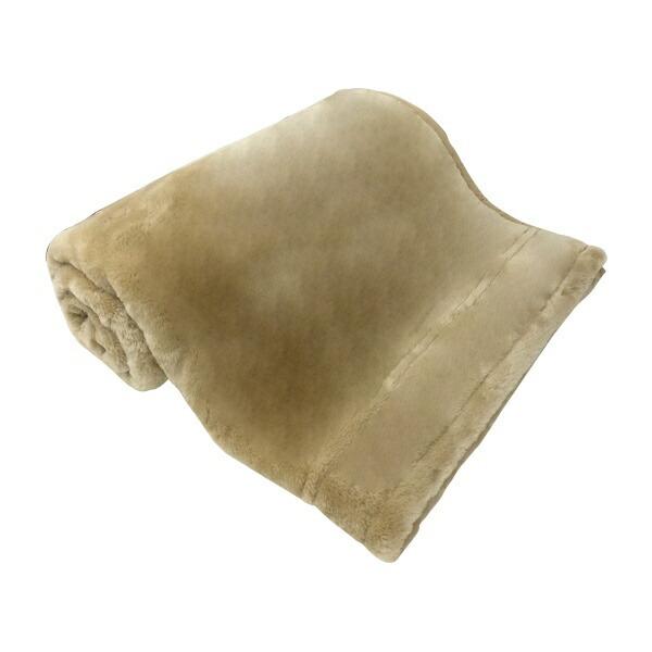 生毛工房ラフィーナ2枚合わせ毛布(ダブルサイズ/180×200cm/ベージュ)