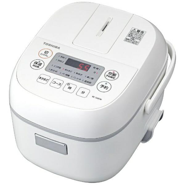 東芝TOSHIBARC-5MFM-W炊飯器ホワイト[3合/マイコン][一人暮らし新生活おしゃれRC5MFMW]