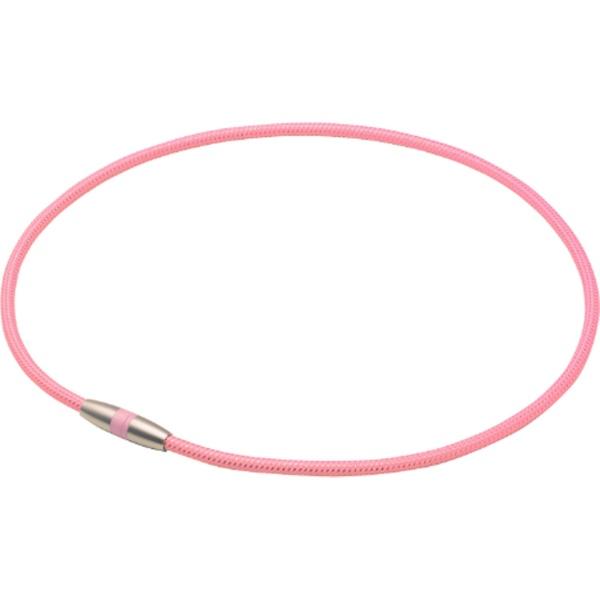 ファイテンPHITENRAKUWA磁気チタンネックレス(ライトピンク/45cm)