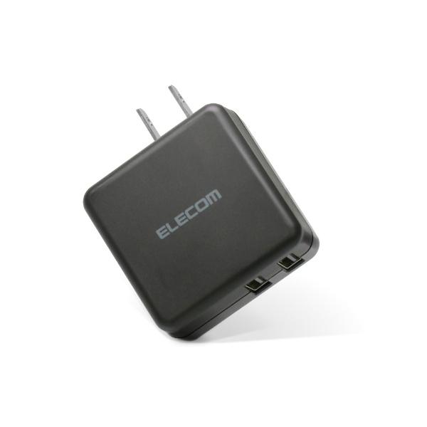 エレコムELECOMスマホ用USB充電コンセントアダプタ3.6A出力おまかせ充電搭載ブラックMPA-ACU03XBK[2ポート/SmartIC対応]