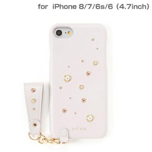 HAMEEハミィ[iPhone8/7/6s/6専用]salisty(サリスティ)Pパールスタッズハードケース(ラベンダー)P-HC005C276-898932