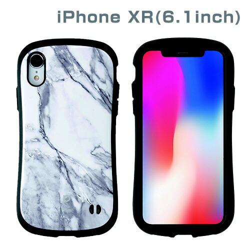 HAMEEハミィ[iPhoneXR専用]iFaceFirstClassMarbleケース(ホワイト)41-899205