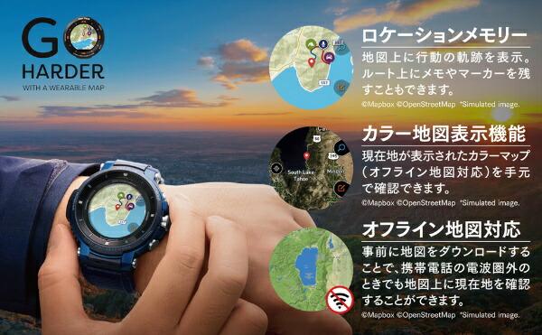 カシオCASIOWSD-F30-BUメンズスマートウォッチPROTREKSmart(プロトレックスマート)ブルー[WSDF30BU]