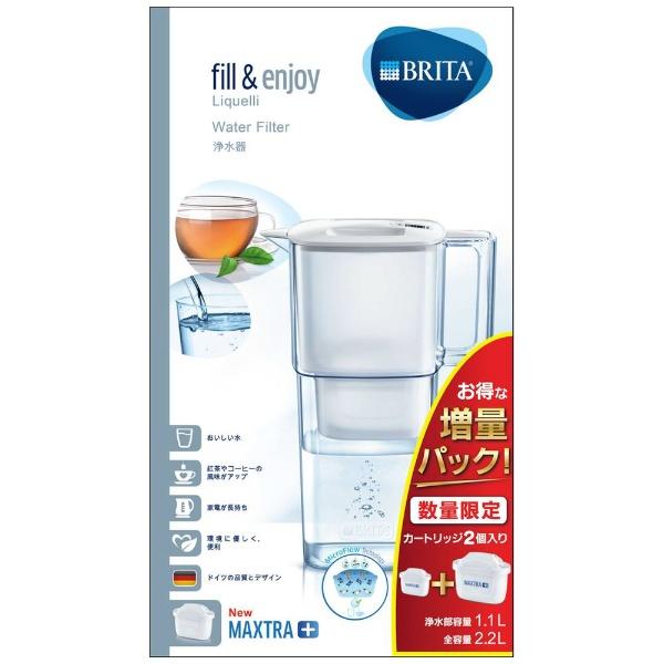 ブリタBRITABJPL2浄水ポットリクエリホワイト[BJPL2]