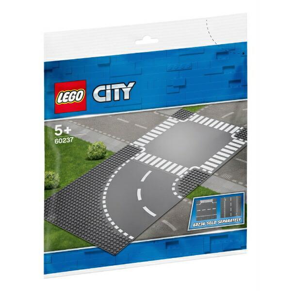 レゴジャパンLEGO60237シティロードプレートカーブと交差点[レゴブロック]