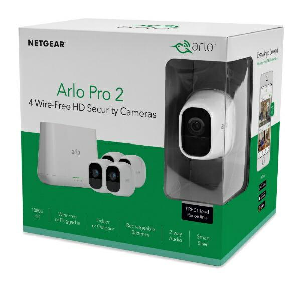 ArloアーロVMS4430P100JPSArloPro2カメラ4台モデルVMS4430P100JPS[暗視対応/有線・無線/屋外対応]ArloPro2[暗視対応/有線・無線/屋外対応]