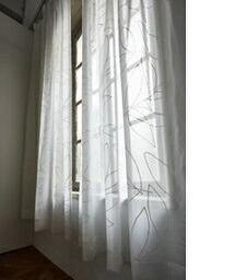 スミノエSUMINOEレースカーテンリーニアボイル(100×176cm/ホワイト)【日本製】
