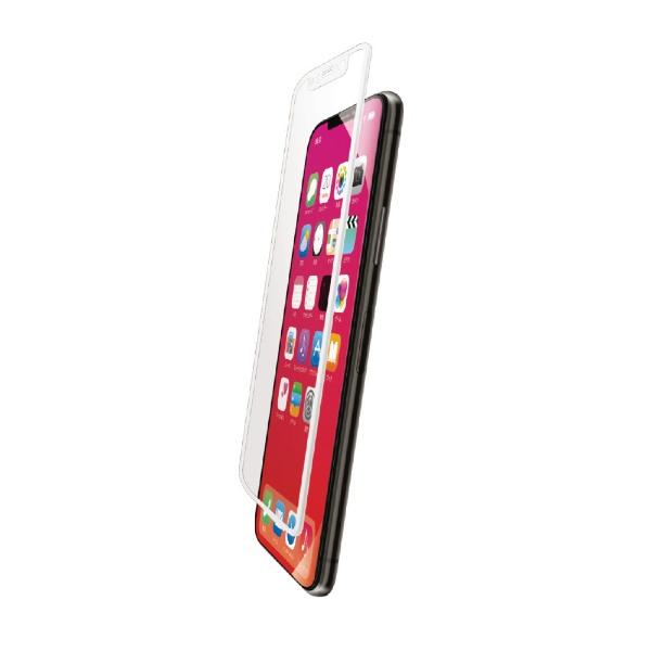 エレコムELECOMiPhoneXRフルカバーガラスフィルムフレーム付PMCA18CFLGFRWHホワイト