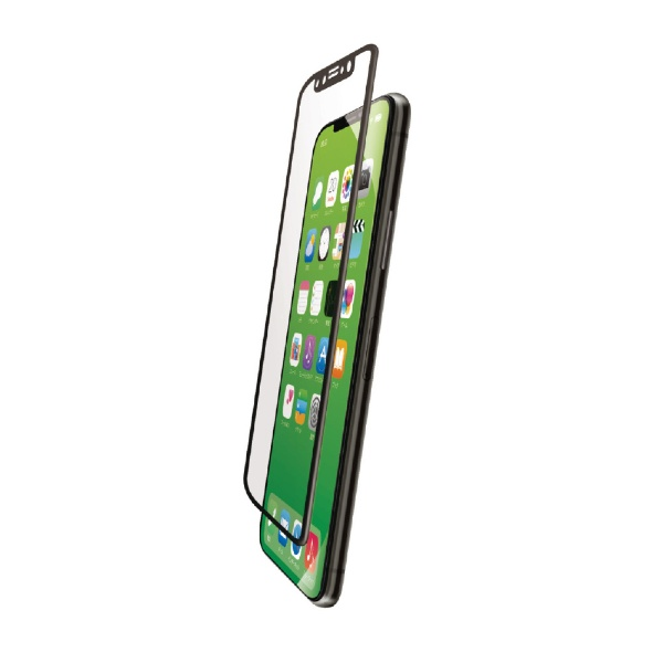 エレコムELECOMiPhoneXSMaxフルカバーガラスフィルムフレーム付PMCA18DFLGFRBKブラック