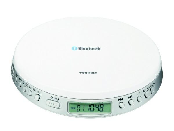 東芝TOSHIBAポータブルCDプレーヤーBluetooth送信機能付きホワイトTY-P3[TYP3W]