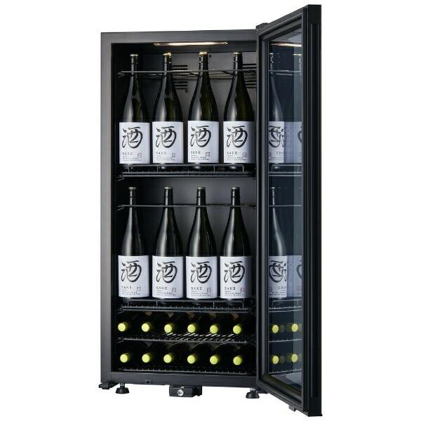 さくら製作所SAKURAWORKS《基本設置料金セット》SB75ワインセラーZEROCLASSPremiumブラック[75本/右開き][SB75]