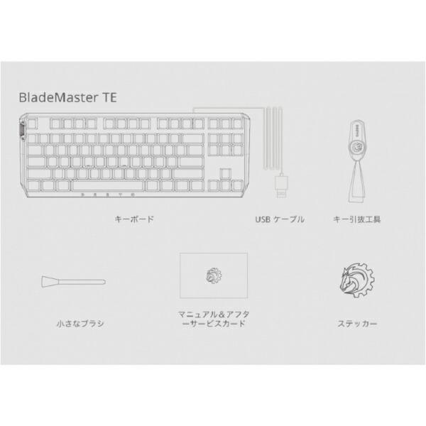 DREVOドレボHEC-DRBMTE87K1USG2ゲーミングキーボード87KUSLayoutWiredGateronBlueSwitch青軸BladeMasterTEブラック[USB/有線][HECDRBMTE87K1USG2]