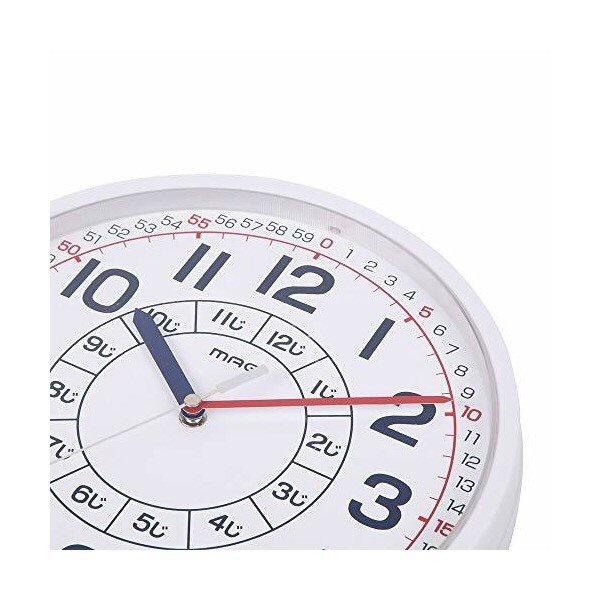 ノア精密NOAアナログ知育掛け時計よ〜めるホワイトW-736WH-Z