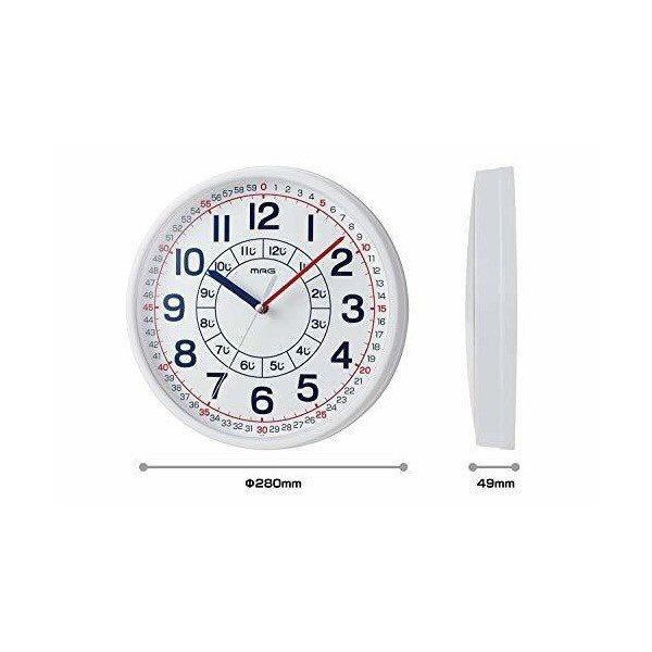 ノア精密NOA知育掛け時計よ〜めるホワイトW-736WH-Z