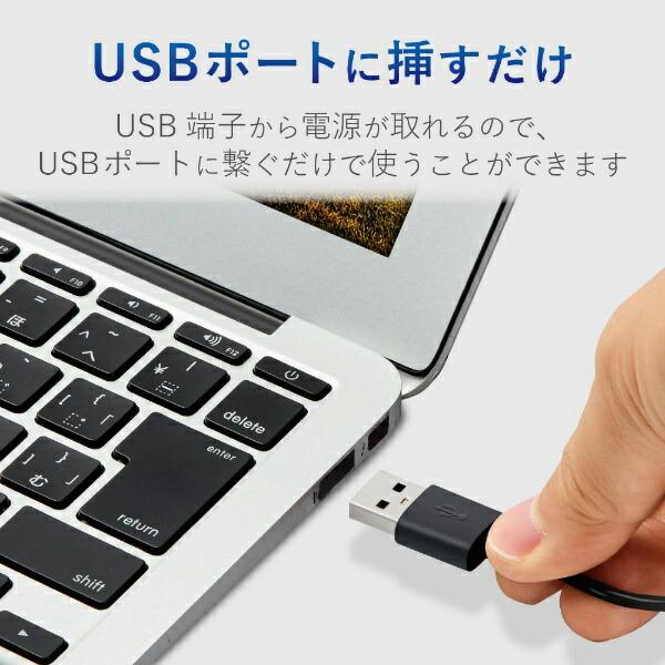 エレコムELECOMMS-P09UXBKPCスピーカーブラック[USB電源/2.0ch]