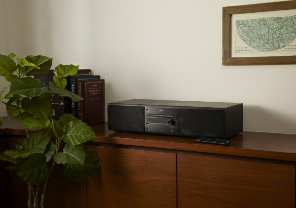 aiwaアイワBluetooth搭載CDシステムコンポXR-BUX200ブラック[ワイドFM対応/Bluetooth対応][CDコンポXRBUX200]