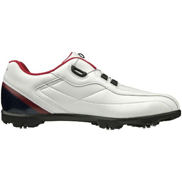 ミズノmizuno24.5cmメンズゴルフシューズライトスタイル003ボア(ホワイト×ブルー)51GM1960