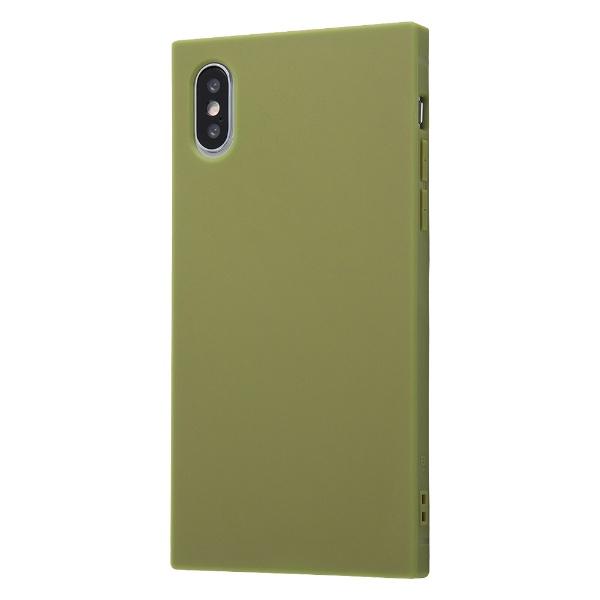 イングレムIngremiPhoneXS/X耐衝撃ソフトケースKAKU/カーキ・グリーンIN-P20TK1/Gカーキグリーン