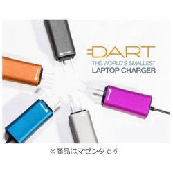FINSiXフィンシックスノートパソコン用ACアダプター65W「DART」+タブレット・スマホ対応[AC-USBType-A充電器:1ポート]DA65US-MA1マゼンタ