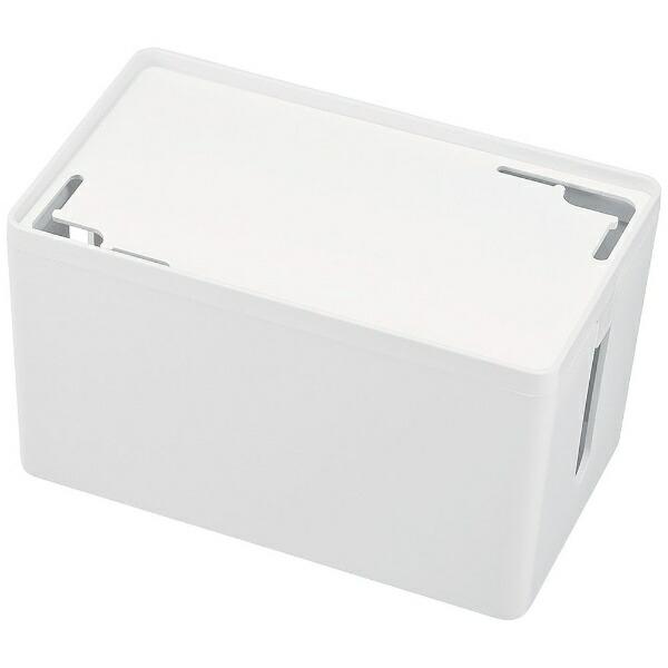 サンワサプライSANWASUPPLYケーブル&タップ収納ボックスSサイズ(W230×D140×H132mm・ホワイト)CB-BOXP1WN2[CBBOXP1WN2]