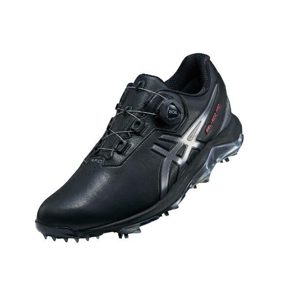 ダンロップ(アシックス)24.5cmメンズゴルフシューズGEL-ACEPRO4BOA(ブラック×カーボン)1113A002