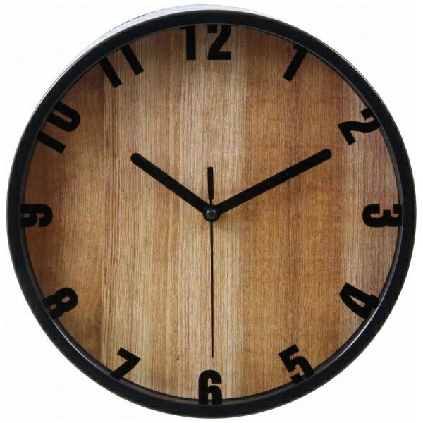 不二貿易FujiBoeki掛時計ブランチΦ22cmBK99028ブラック