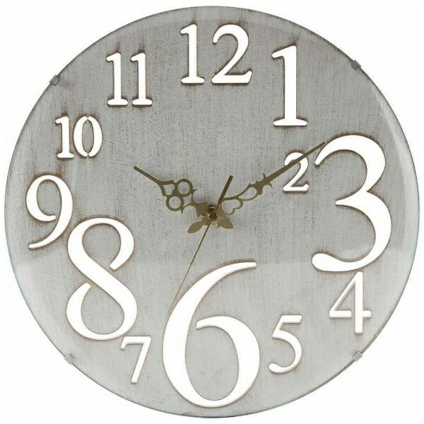 不二貿易FujiBoeki掛け時計レトロホワイト56920