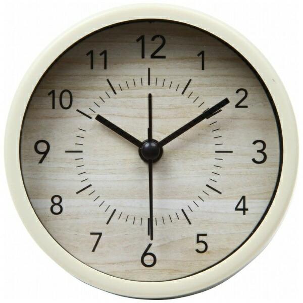 不二貿易FujiBoeki置き時計ラウンドゾーイナチュラル99076