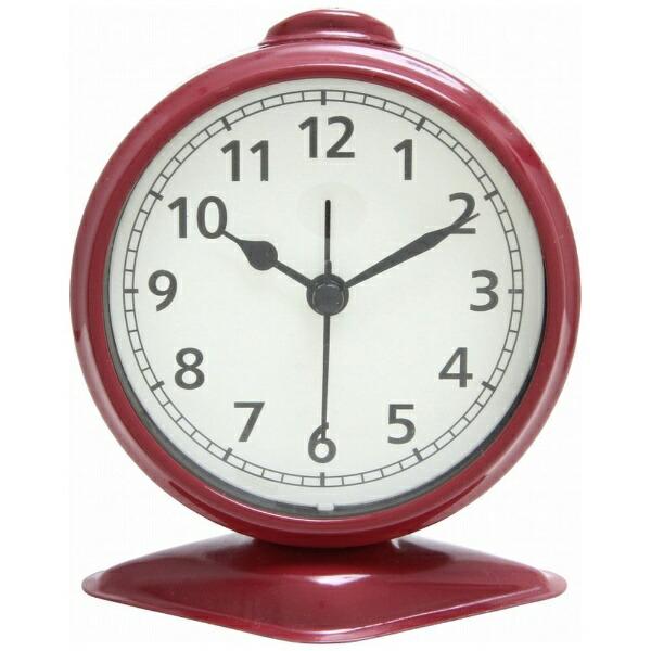 不二貿易FujiBoeki置き時計テーブルアラームレッド99084