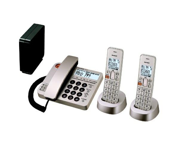 シャープSHARPJD-XG1CW-N電話機シャンパンゴールド[子機2台/コードレス][電話機本体JDXG1CWN]