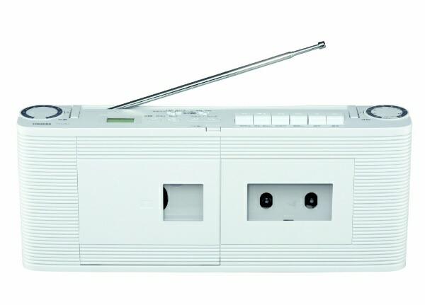 東芝TOSHIBA【ワイドFM対応】CDラジカセ(ラジオ・CD・カセットテープ)TY-CDV1(W)[ラジカセcdプレーヤー薄型コンパクトTYCDV1W]