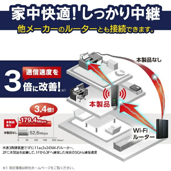 エレコムELECOMWTC-1167US-B無線LAN(wi-fi)中継機[ac/n/a/g/b][WTC1167USB]