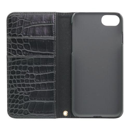 OWLTECHオウルテックiPhone8/7/6s/6用クロコダイル柄手帳型ケースTHEOWL-CVIP7S07OWL-CVIP7S07-BKブラック