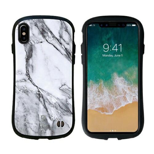 HAMEEハミィiPhoneX用iFaceFirstClassMarbleケースホワイトIP8IFACEMARBLEWH